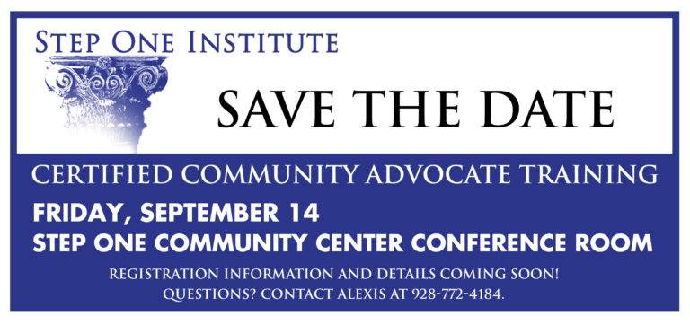 BECOME A CERTIFIED COMMUNITY ADVOCATE!