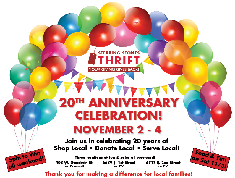 Celebrate 20 years of thrift