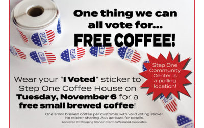 Vote and enjoy a free cup of coffee!