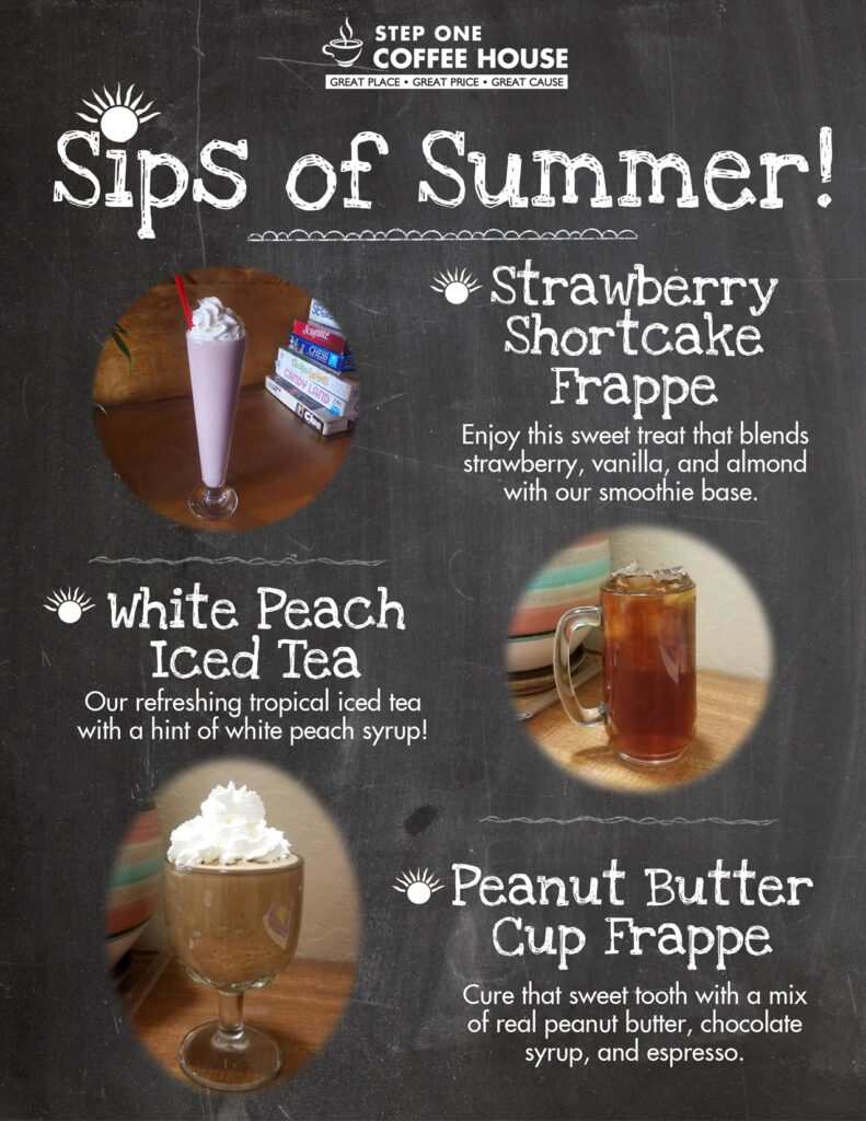 Step One Coffee House drink specials