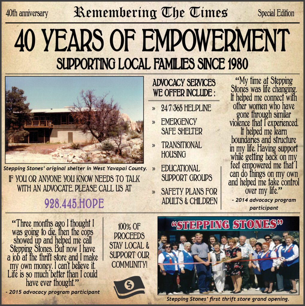 Stepping Stones 40th Anniversary