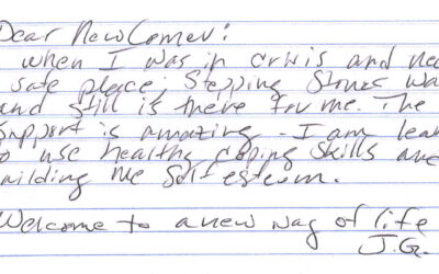 A Look Back: Note from former resident